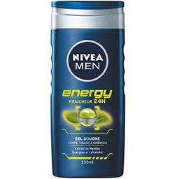 Gel douche Energy, visage & cheveux