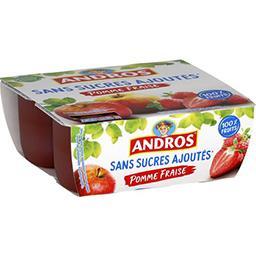 Dessert fruitier pomme fraise sans sucres ajoutés