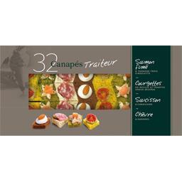 Canapés traiteur saumon fumé/courgettes/saucisson/ch...