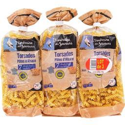 Itinéraire des Saveurs Torsades d'Alsace le lot de 3 paquets de 250 g