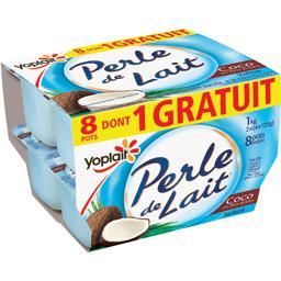 Yoplait Perle de Lait - Spécialité laitière coco en fins écl... les 8 pots de 125 g - 1 kg