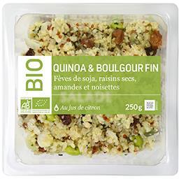 Mix Buffet Notre Sélection Salade de quinoa & boulgour fin au jus de citron BIO la barquette de 250 g