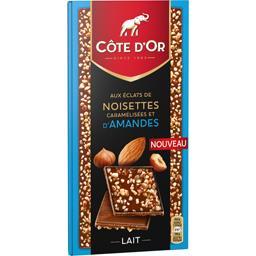 Chocolat lait éclats de noisettes caramélisées et d'...