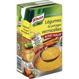 Soupe légumes du potager vermicelles