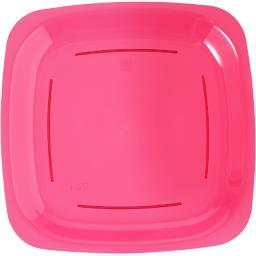 Assiette carrée PM rose