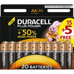 Duracell Plus Power - Piles alcalines AA LR6 1,5 V