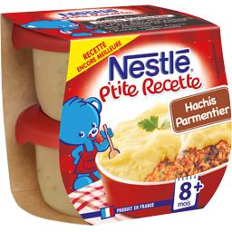Nestlé Nestlé Bébé P'tite Recette - Hachis parmentier, 8+ mois
