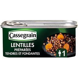 Lentilles cuisinées aux oignons et carottes