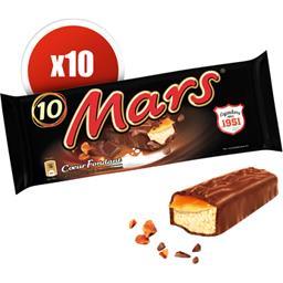 Barres chocolatées caramel