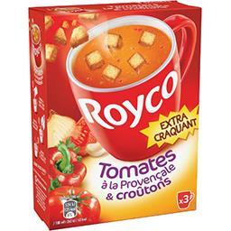 Soupe tomates à la provençale & croûtons