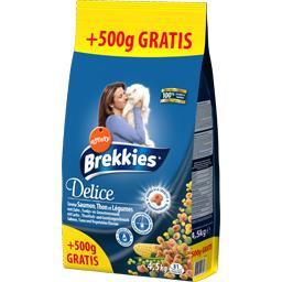 Brekkies Croquettes Delice saveur saumon thon et légumes pour... le sac de 4 kg