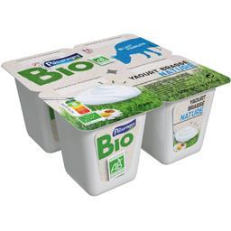 Bio Pâturages Yaourt brassé nature BIO les 4 pots de 125 g