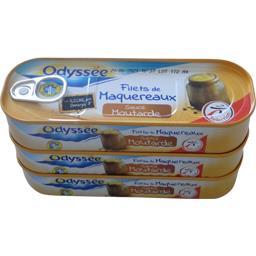Odyssée Filets de maquereaux sauce moutarde les 3 boites de 169g