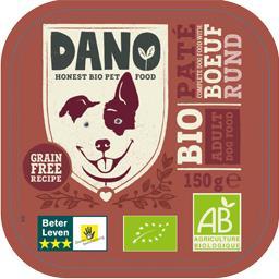 Dano Pâtée pour chien au bœuf BIO la barquette de 150 g