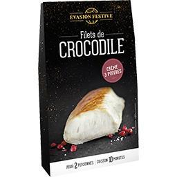 Filets de crocodile crème 3 poivres