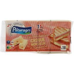 Pâturages Fromage Les Tranchettes croque-monsieur à l'emmental le paquet de 18 - 340 g