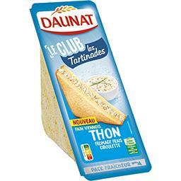 Le Club - Sandwich Les Tartinades thon fromage ciboulette