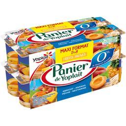 Panier de Yoplait Spécialités laitières fruits jaunes les 16 pots de 125 g -