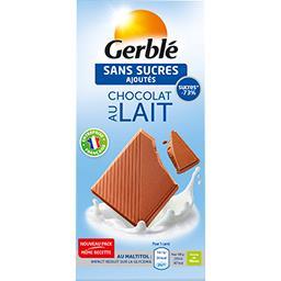Chocolat au lait sans sucres ajoutés