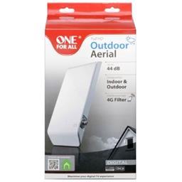 Antenne intérieure/extérieure Full HD 44 DB filtre 4G