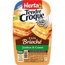 Tendre Croque - Croque-monsieur pain brioché jambon & Comté