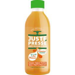 Juste Pressé Jus 100% fruits pressées orange mangue passion la bouteille de 0,9 l