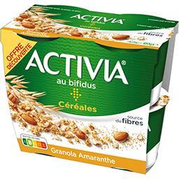Activia - Spécialité laitière granola graines d'amar...