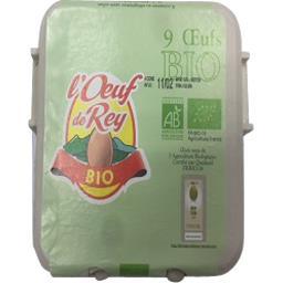 L'œuf de rey Oeufs BIO calibre moyen La boite de 9