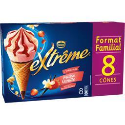 Nestlé Extrême L'Original - Cônes fraise vanille sauce fruits rouge...