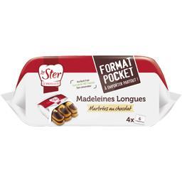 Madeleines longues marbrées au chocolat