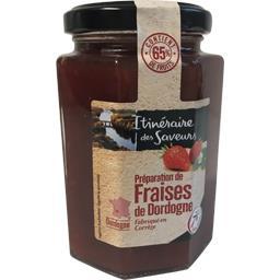Préparation de fraises de Dordogne