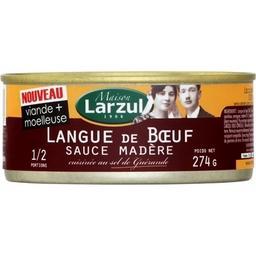 Maison Larzul Langue de bœuf sauce Madère cuisinée au sel de Guéra...