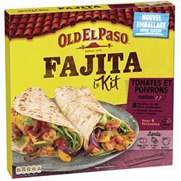 Kit Fajita tomates et poivrons medium