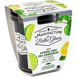 Sorbet plein fruit citron vert des Amériques
