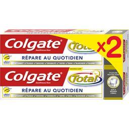 Colgate Total - Dentifrice répare au quotidien les 2 tubes de 75 ml