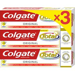 Colgate Total - Dentifrice Original les 3 tubes de 75 ml