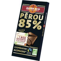 Chocolat Pérou 85% fruité & corsé BIO