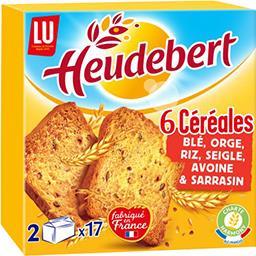 LU Heudebert Biscottes 6 céréales