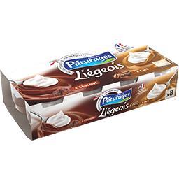 Crème dessert Liégeois au café et au chocolat