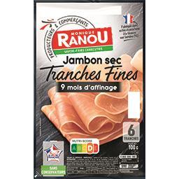 Jambon sec tranches fines 9 mois d'affinage
