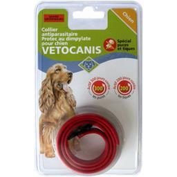 Collier dimpylate chien protec anti-parasite, rouge