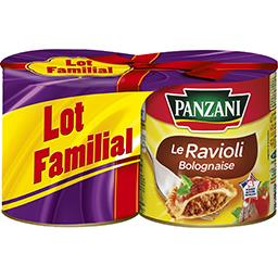 Panzani Le Ravioli Bolognaise les 2 boites de 800 g