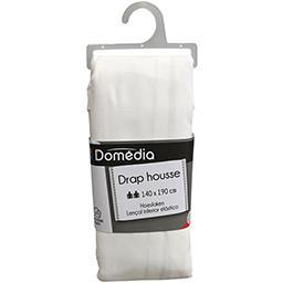 Linge de lit drap housse blanc 140x190
