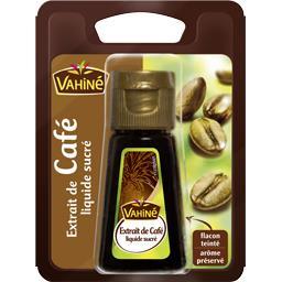 Extrait de café liquide sucré