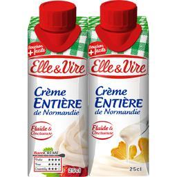 Crème entière de Normandie fluide