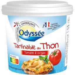 Tartinables au thon tomate et origan