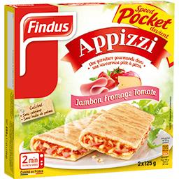 Appizzi - Pizza sandwich jambon fromage tomate