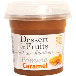 Dessert de fruits pomme caramel 92% de fruits