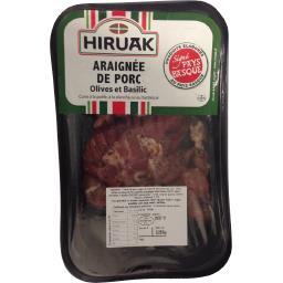 Araignée de porc olives et basilic