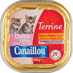 Terrine pour chaton riche en poulet et au lait